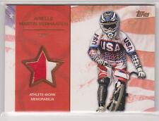 2012 TOPPS OLYMPIC ARIELLE MARTIN VERHAAREN BRONZE CYCLING RELIC CARD ~ 68/75