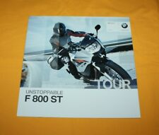 BMW F 800 ST 2010 Prospekt Brochure Depliant Catalog Prospect Folder Broschyr