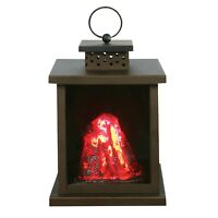 LED Volcano Lantern - Battery Operated Indoor Black Metal Accent Lamp/Nightlight