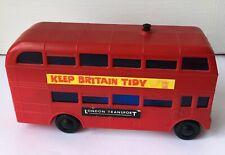 Vintage TOMY Talking London Transport Red 29 Trafalgar Square Plastic Bus Toy