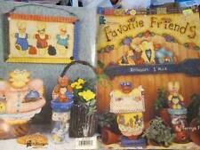 Favorite Friends Painting Book-Terrye French-Cats/Bunnies/Bears