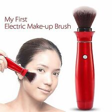 Rotating Electric Makeup Brush Handy Vibration Cosmetic Soft Powder Puff Tool
