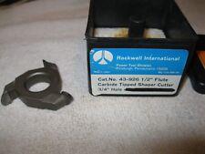"Delta/Rockwell Shaper cutter carbide tipped 3/4"" bore # 43-926 Nos bit"