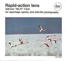 Leica Original Rapid-action 400mm f/6.8 TELYT Leaflet, Printed in Germany