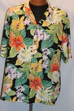 Men's XL Pacific Legend Shirt S/S Hawaiian Floral Button Down EUC