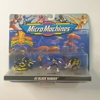 Galoob Vintage 1994 #2 Black Power Rangers Micro Machines Sealed MMPR