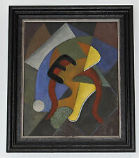 "Bela de Kristo COMPOSITION (I) Oil on card 11.5"" x 9.5"" Painting (Art/Picasso)"