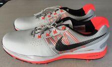 Nike Lunar Control III Golf Shoes 704665-003 Grey/Bright Crimson US 11-New