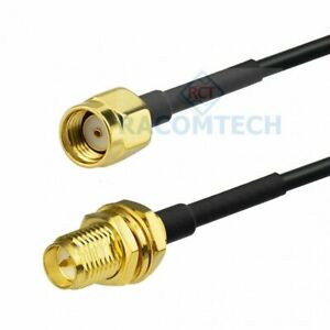 Low loss Coaxial Cable LMR100 with RP-SMA Male to RP-SMA female ( Equiv.RG316 )