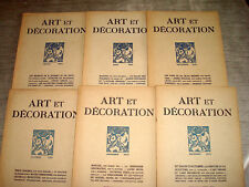 ART & DECORATION 1924 2e Sem. 6/6 ART DECO JOUBERT & PETIT SUBES JALLOT LENOBLE