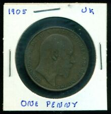 1905 EDWARD VII COIN - ONE PENNY GREAT BRITAIN UK