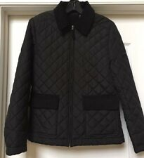 DKNY ACTIVE Women's Black Quilted Jacket Full Zip Coat,  Size M