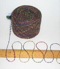50g Green Red Purple Blue Yellow 2 ply boucle loop Wool & Acrylic knitting yarn