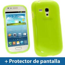 Verde Funda Lucida TPU Gel para Samsung Galaxy S3 III Mini I8190 Cover Carcasa