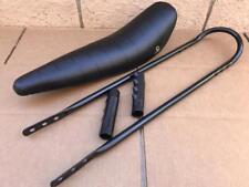 """20"""" BLACK Lowrider Krate BANANA SEAT Sting-Ray GRIPS & BLACK SISSYBAR"""
