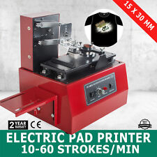 ELECTRIC PAD PRINTER PRINTING MACHINE T-SHIRT DIY TRANSFER LOGOS CODING SCREEN