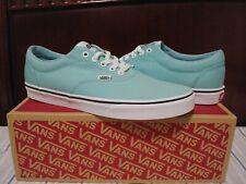 Vans Doheny Men's Low Top Canvas Skate Shoes Size 11.5, Aqua Haze/White NWB