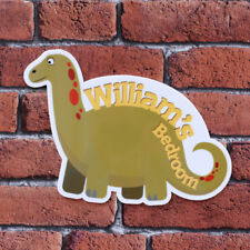 Personalised Printed Dinosaur Bedroom Plaques