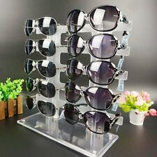 10 Pair 2 Row Sunglasses Eyeglasses Glasses Frame Display Stand Rack Holder L8