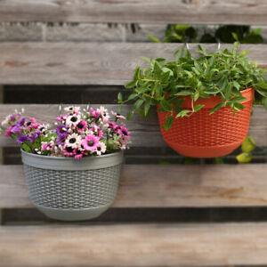 Wall-mounted flower pots plastic semi-circular rattan-like