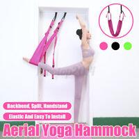 US Large Aerial Yoga Door Hammock Swing Trapeze Sling Elastic Stretch
