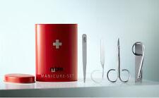 Swiss Box Manicure Set by Rubis (tweezer.nail file,nail clipper ,scissors new