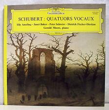 """33T FRANZ SCHUBERT AMELING BAKER SCHREIER - MOORE Piano LP 12"""" QUATUORS VOCAUX M"""
