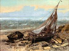 Art Gustave Courbet Fishing Boat Vivid Mural Ceramic Backsplash Tile #2320