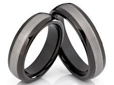 2 wolframio TUNGSTENO anillos de compromiso Boda con grabado láser