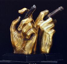 Bookends Art Deco Book Shelf Gift Hand Cigar Brass Bey-Berk New