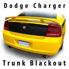 Dodge Charger Trunk Blackout Decal Stripe Kit pre cut 2006 2007 2008 2009 2010