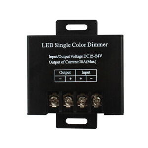 DC 12/24V Single Color 30A LED Wireless Dimmer Controller + RF Remote Control RF