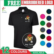 Personalised Embroidered Housebuilder Bricklayer Uniform Workwer Mens Polo Shirt