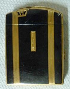 Art Deco Ronson Dureum Cigarette Case Pocket Lighter