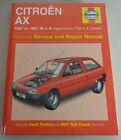 Repair Manual Citroen Ax, Year 1987 -97, 1.0 1.1 1.4 Litre Petrol/Diesel