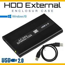 USB 2.0 2.5Inch SATA Hard Drive External Enclosure HDD Laptop Caddy Disk Case US