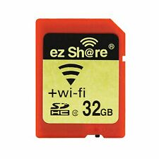 Wi-Fi Wireless 32GB SDHC 10 SD Tarjeta de memoria flash para ojo Fi Transcend EZ compartir