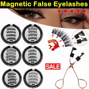 8D Quantum Magnetic False Eyelashes Long Lashes Reusable / Lashes Curler Clip UK