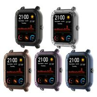 Silicone Smart Watch Screen Case Cover Bracelet Soft Protector for Amazfit GTS
