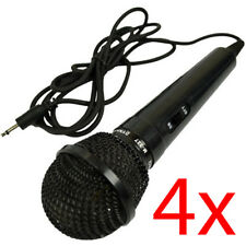 4 X DYNAMIC MICROPHONE SINGING KARAOKE DJ MIC PUB HOME FUN ENTERTAINER PARTY NEW