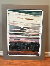 """Daryl Howard print """"Silent Voices in the Pueblo"""" 1988 foil embossed print retro"""