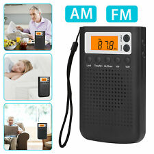 Portable Digital FM AM Radio Mini Pocket Stereo Radio Receiver with Earphones