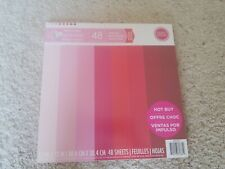 "1 pack of 48 sheets of 12""x12"" pink Craft Smith scrapbook paper."