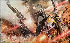 Star Wars Boba Fett Vintage Movie Large Poster Art Print 91x61 cm