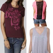 Fox Racing Women's Lot of 3 Tee Multi Styles And Colors T-shirt Size M