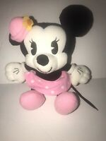 Vintage Disney Pink Minnie Mouse Plush Stuffed Animal Vintage Style 8 Inches