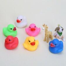 Led Flashing Light Rubber Floating Duck Bathtub Shower Toy For Kids Children