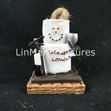 S'mores Wine Lover Ornament Bottle of Wine Holding Wine Glass Midwest CBK