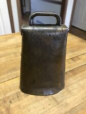 ANTIQUE COW BELL FORGED IRON AND HAND RIVETED BLACKSMITH MADE