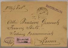 POSTA MILITARE 62^ DIVISIONE 15.7.1917 RACC. 548^ COMP. MITRAGL. FIAT#XP312C